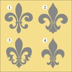 New Orleans Fleur de Lis Decal | Vinyl Stencil-fleur de lis, decal, sticker, stencil, decorating, paris, french, ny_mce/themes/advanced/langs/en.js>, nursery