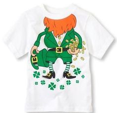 The Children's Place 12 18 Months 2T 3T St Patricks Leprechaun Shirt New | eBay