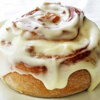 Cinnabon icing for cinnamon rolls...YUM. For when I don't have cream cheese. :)