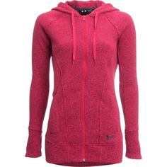 Under Armour Mountain Women's Ua Wintersweet Full Zip Hoodie - Pink Knockout: This little riding hoody is… #OutdoorGear #Camping #Hiking