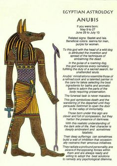 Egyptian Horoscope for Anubis. Character Traits, Hidden Talents for Men and Women by Date of Birth: Legacy of the Patron Deity in Ancient Astrology. Egyptian Mythology, Egyptian Symbols, Egyptian Goddess, Bastet Goddess, Egyptian Anubis, Mayan Symbols, Viking Symbols, Viking Runes, Ancient Egyptian Art