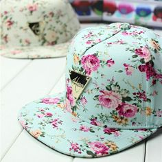 2014 spring summer H Series Colorful Floral flat triangle labeled hip-hop  baseball cap hater snapback for women men. 21550f4b4c7