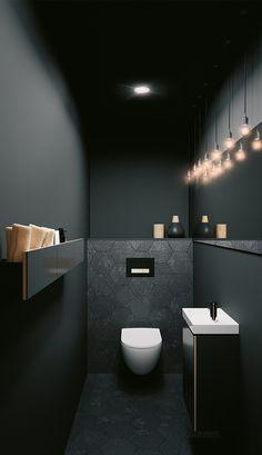 Washroom Design, Bathroom Design Luxury, Modern Bathroom Design, Modern Toilet Design, Small Toilet Room, Small Bathroom, Bathrooms, Bathroom Beach, Guest Toilet