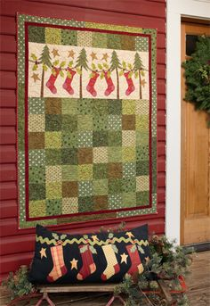 """High Strung"" quilt from the book 'Tis the Season."