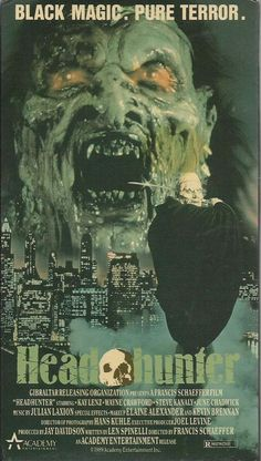 vhs HEAD HUNTER Headhunter used A voodoo demon from Africa decapitating | eBay