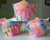 Tie-dye Fun Cupcake Wrappers