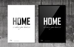 Home is where your heart is. #RabbitDESIGN #poster