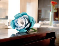 Blue Paper Flower Giant Paper Flowers Wedding by FioriBelle