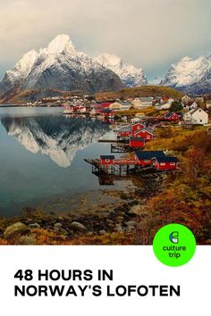 Combining majestic mountains, beaches, picturesque fishing villages and the best views of the Northern Lights, here's how to spend 48 hours in Norway's Lofoten  . . . #CultureTrip #ForCuriousTravellers #Norway #Travel #Europe #LofotenIslands #archipelago #Mountains #Beaches #BeautifulPlaces #BucketList #Wanderlust #WanderlustDestinations #WeekendGetaway  📸. Courtesy of Visit Lofoten Norway Travel Guide, Places To Travel, Places To Visit, Lofoten, Wild Nature, Fishing Villages, Archipelago, Travel Europe, Weekend Getaways