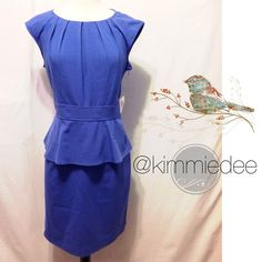 """Selling this """"NWT Periwinkle pleated peplum office/party dress"""" in my Poshmark closet! My username is: kimmiedee. #shopmycloset #poshmark #fashion #shopping #style #forsale #Dresses & Skirts"""