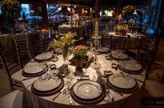 Mesa da festa - Casamento rústico-chique