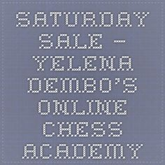 Saturday Sale – Yelena Dembo's Online Chess Academy Chess, Personalized Items, Books, Gingham, Libros, Book, Book Illustrations, Libri