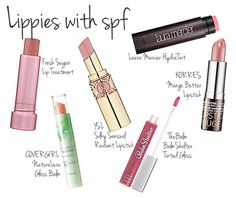 Protect Your Lips: Lipstick and Lip Gloss withSPF.