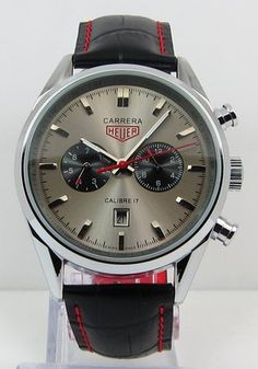 6ba85246fcf Tag Heuer Carrera Calibre 17 Automatic Chronograph Jack Heuer Edition Gray  Carrera Watch, Tag Heuer