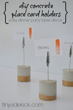 Concrete Place Card Holders for 100 Fall DIYs