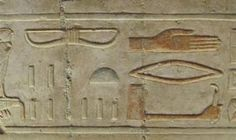 These 3,000-year-old Egyptian  hieroglyphics may resemble planes,  helicopters, and UFOs, but experts  agree it's just an effect caused by  erosion. The stone was once filled with  plaster and re-carved during the reign  of a new pharaoh. Over time, erosion  partly revealed both inscriptions, and  the overlapping hieroglyphs created  new shapes.  Source Source 2 Source 3