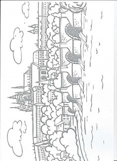 Praha Colouring Pages, Coloring Books, Middle Ages History, Elementary Science, Kids Education, Prague, Geography, Worksheets, Homeschool