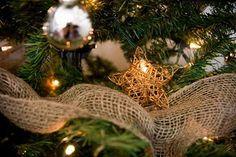 Rustic Christmas tree decoration.