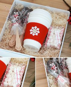 Style Watch: Hot Cocoa in a Box How to . Cocoa Kit in a Box Homemade Christmas Gifts, Christmas Presents, Homemade Gifts, Craft Gifts, Christmas Time, Holiday Gifts, Christmas Crafts, Diy Gifts In A Box, Christmas Gift Boxes