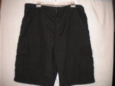 "Burnside Size 36 X 10"" Inseam Black Style #BL9801X Mens Cargo Shorts #Burnside #Cargo"