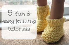 5 fun easy knitting projects and tutorials #homeschool #handiwork #crafts