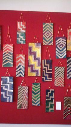 Tukutuku panels – Garcia's Galaxy School Art Projects, Projects To Try, Maori Words, Art For Kids, Crafts For Kids, Maori Designs, New Zealand Art, Tree House Designs, Maori Art