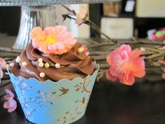 Cherry Blossom & Birds Cupcake Wrappers www.bellacupcakecouture.com $7.99 includes 12.