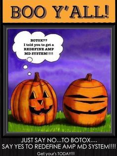 Happy Halloween!!!  Let Rodan & Fields help you achieve the look you want without the cost and evasive procedures which come from BOTOX.  https://lisaanderson1.myrandf.com