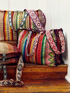 I have this bag! Peruvian rugs... <3