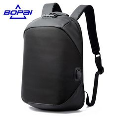 BOPAI Luxury Coded Lock Backpack USB Charge Port Anti Theft Waterproof Free Shipping