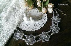 Wedding necklace Bridal necklace Flowers necklace Necklace