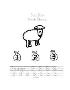 A free visual aid to chart daily weather conditions the for Baa baa black sheep coloring page