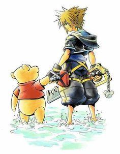 Kingdom Hearts II-Sora and Pooh