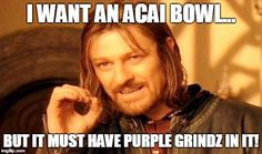 "#PurpleGrindz was created to make the best-tasting #AcaiBowls on the planet with the perfect taste, texture, and nutritional profile.  Try ""Da Grindz"" in your blended creations!"