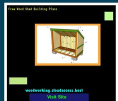 Free Wood Shed Building Plans 073304 - Woodworking Plans and…