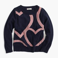 crewcuts Girls Abstract Heart Popover Sweater