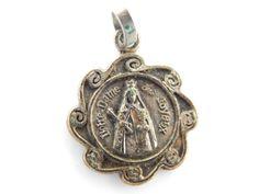 Rare Vintage French Notre Dame de Joyaux Montroeul au Bois Catholic Medal - Our Lady of Jewels - Virgin Mary Catholic Charm by LuxMeaChristus on Etsy
