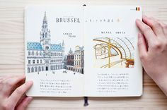 Belgium illustrated cities by Kondo Yoshie
