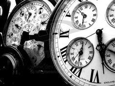 black & white old clocks by tangytamarind