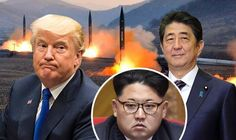 Trump and Japan promise to 'COMBAT North Korea threat' after missile launch