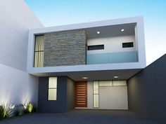 House Outer Design, House Outside Design, House Front Design, Modern House Design, Modern House Facades, Modern Architecture, Style At Home, Bungalow Haus Design, Narrow House Designs