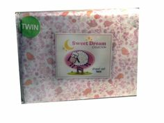Sweet Dreams Collection Pink Birds & Flowers Twin Sheet Set