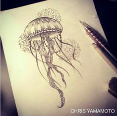 Nice Jellyfish Tattoo Designs The Effective Pictures We Offer You About Sealife Drawing ideas A Jellyfish Tattoo, Jellyfish Art, Octopus Tattoos, Jellyfish Drawing, Jellyfish Light, Jellyfish Decorations, Jellyfish Aquarium, Tattoo Sketches, Tattoo Drawings