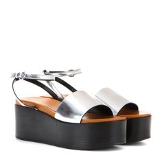 mytheresa.com - Lotta metallic wedge sandals - Current week - New Arrivals - McQ Alexander McQueen - Luxury Fashion for Women / Designer clothing, shoes, bags