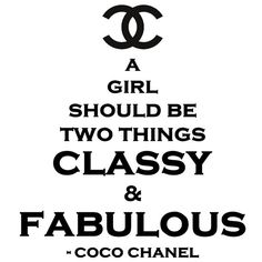 Classy and Fabulous CoCo Chanel vinyl wall quote by SpiffyDecals, $24.99