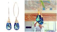 BECK Mystic Blue earrings - www.beckjewels.com - Handcrafted in the Dutch Caribbean