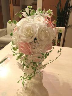 クレープペーパー 白いブーケ paperflowerbouquet crepepaperflower