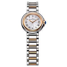 Buy Maurice Lacroix FA1003-PVP13-110 Women's Fiaba Date Dial Bracelet Strap Watch, Silver/Gold Online at johnlewis.com