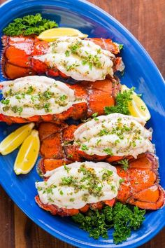 Broiled lobster tails are tender, juicy, and easy. Learn how to butterfly and cook lobster tails. You'll love the lobster dipping sauce. Lobster Dishes, Lobster Recipes, Fish Dishes, Lobster Meat, Lobster Sauce, Broiled Lobster Tails Recipe, Broil Lobster Tail, Salmon Recipes, Fish Recipes