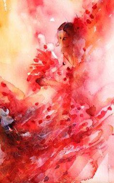 """""""Flamenco Dancer"""" by Jean Haines"""